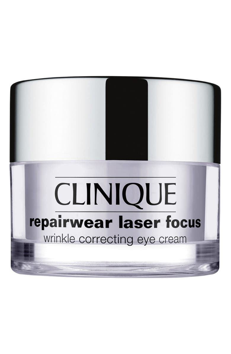 CLINIQUE Repairwear Laser Focus Wrinkle Correcting Eye Cream, Main, color, NO COLOR