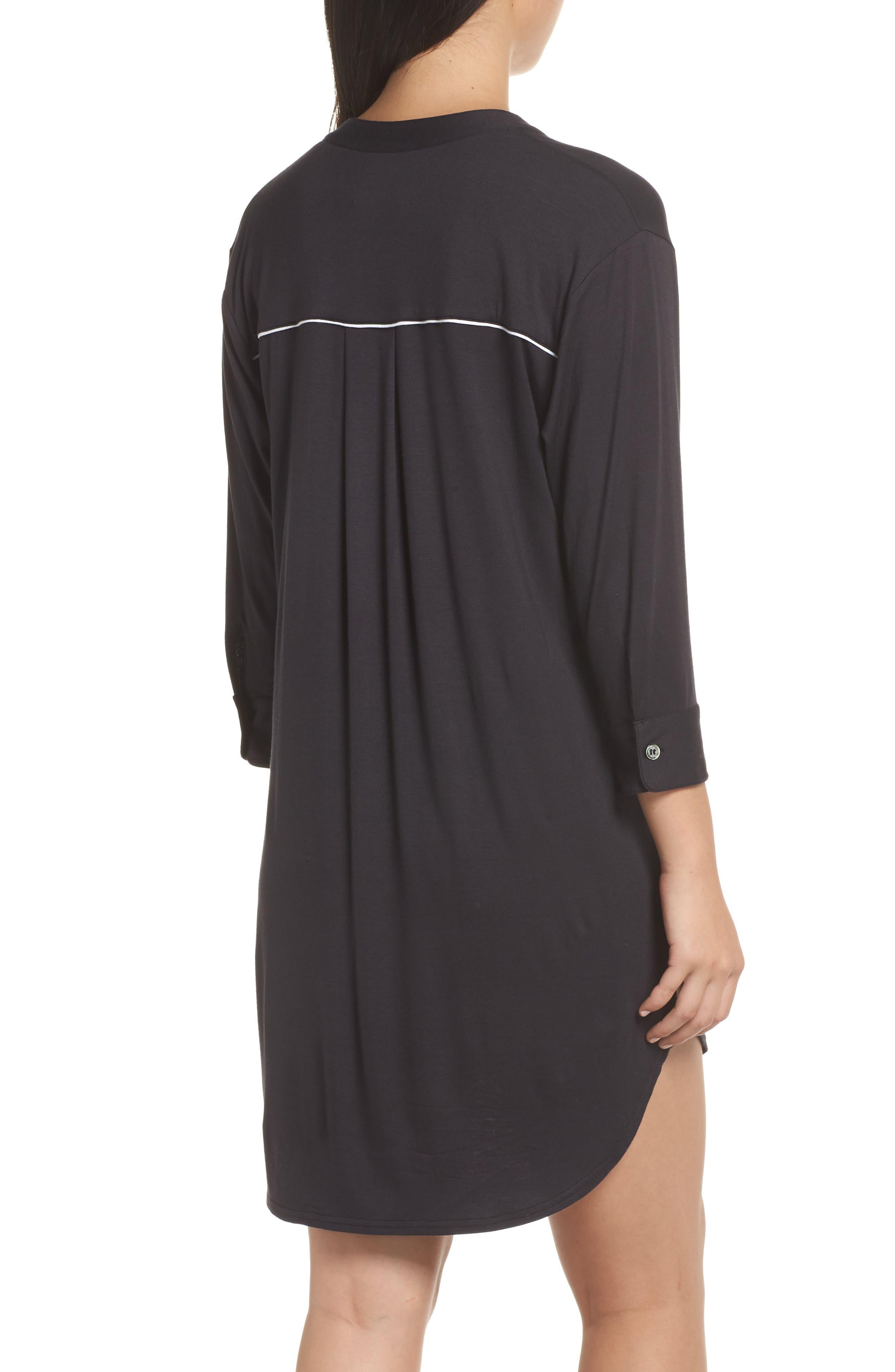 ,                             Vivian Sleep Shirt,                             Alternate thumbnail 2, color,                             BLACK
