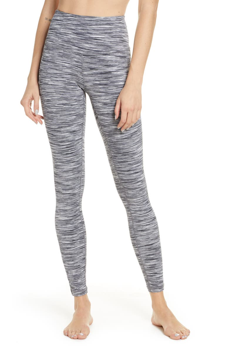 ZELLA Live In Space Dye High Waist Leggings, Main, color, BLACK GRAPHITE SPACEDYE