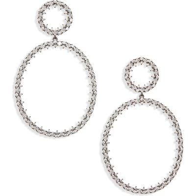 Nadri Tulle Double Drop Earrings