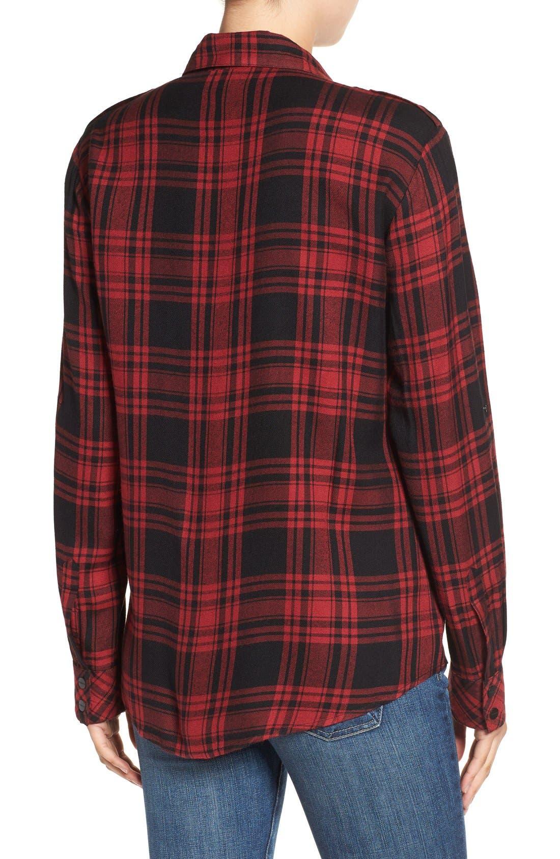 ,                             Plaid Flannel Boyfriend Shirt,                             Alternate thumbnail 12, color,                             603