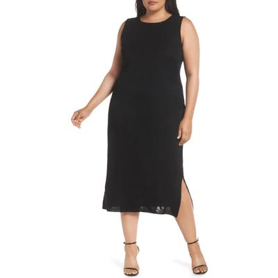 Plus Size Ming Wang Sleeveless Dress, Black