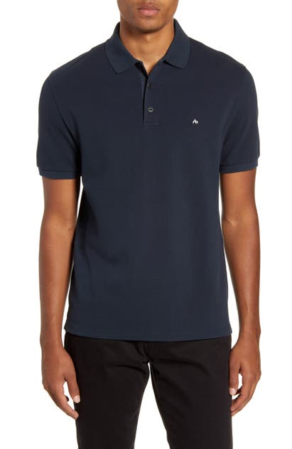 Rag & Bone Tops HYPER LAUNDERED CLASSIC FIT PIQUE POLO