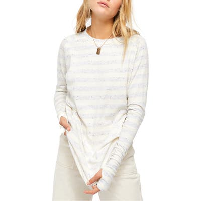 Free People Arden Stripe Shirt, Ivory