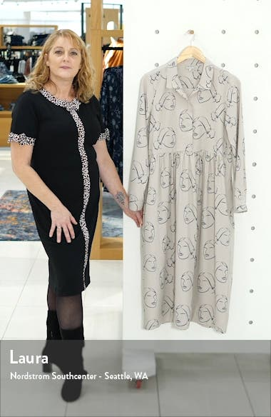 Easy Print Long Sleeve Midi Dress, sales video thumbnail