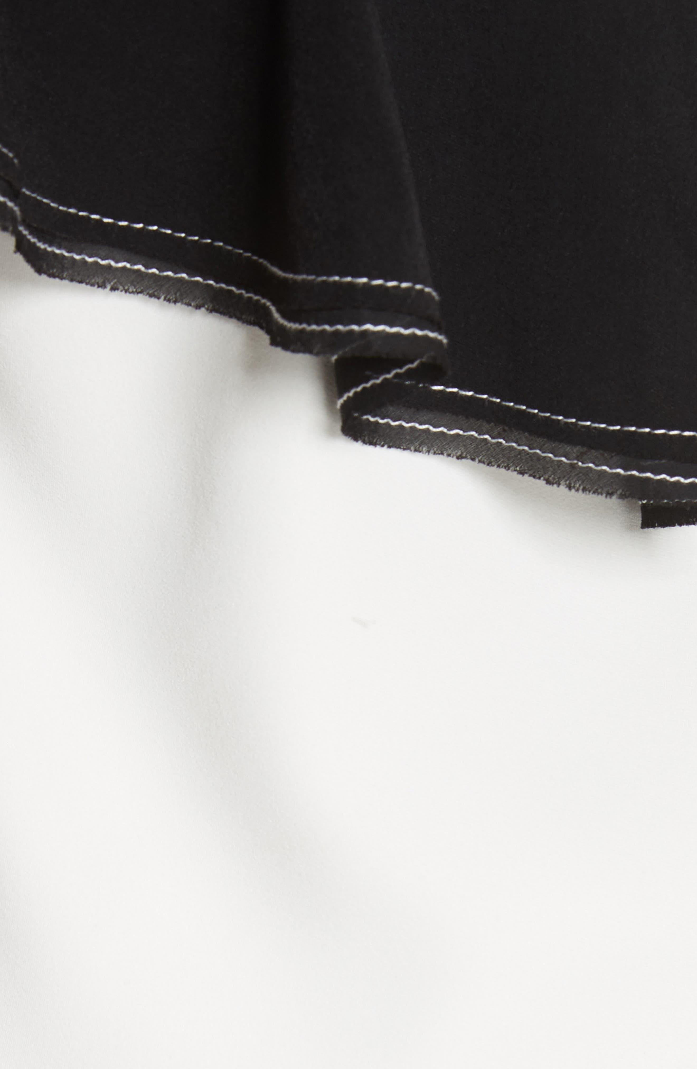 ,                             Harness Strap Cold Shoulder Blouse,                             Alternate thumbnail 5, color,                             100