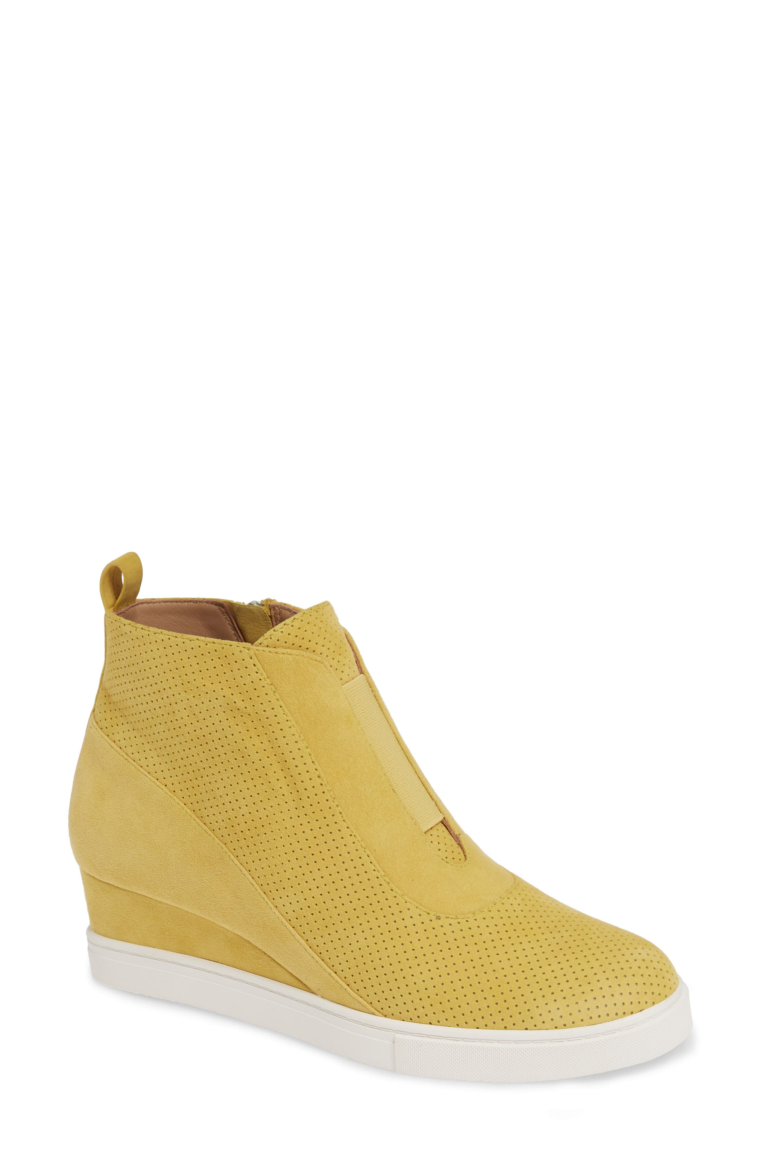Linea Paolo Anna Wedge Sneaker- Yellow