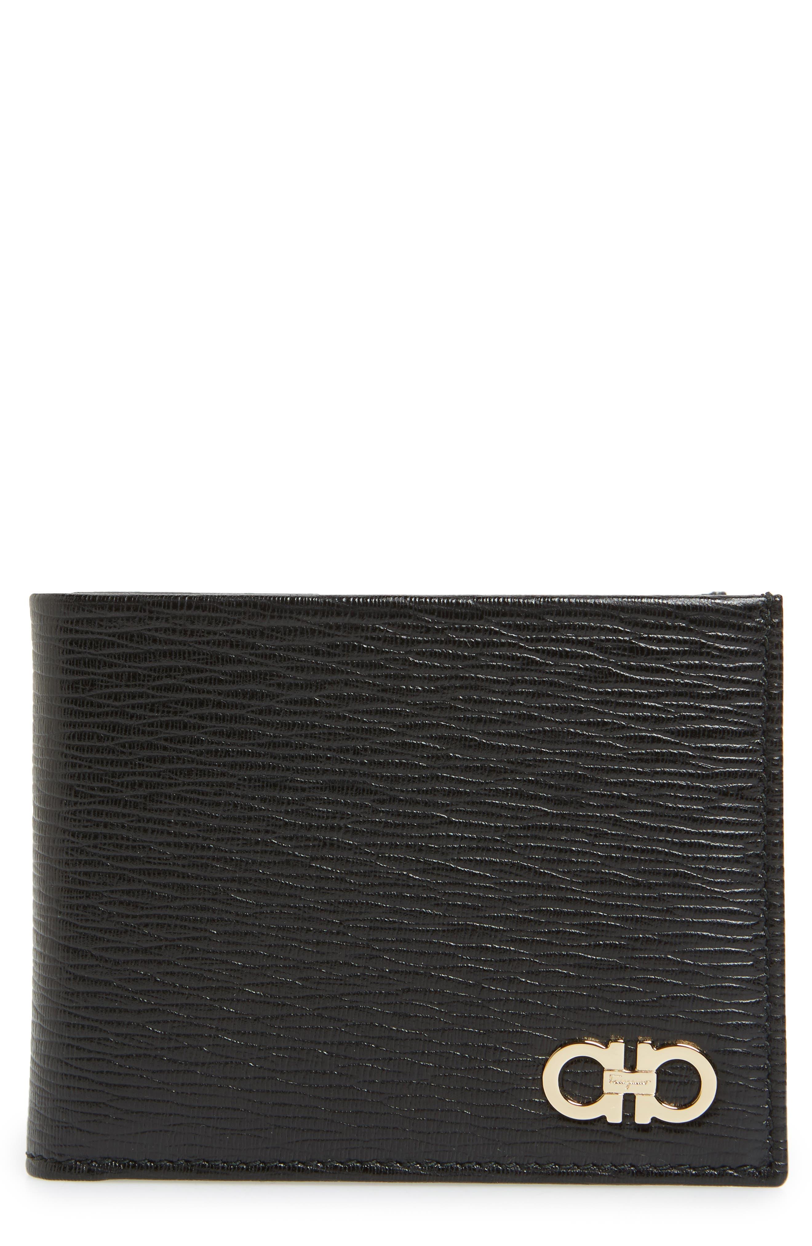 Men's Salvatore Ferragamo Revival Leather Wallet - Black