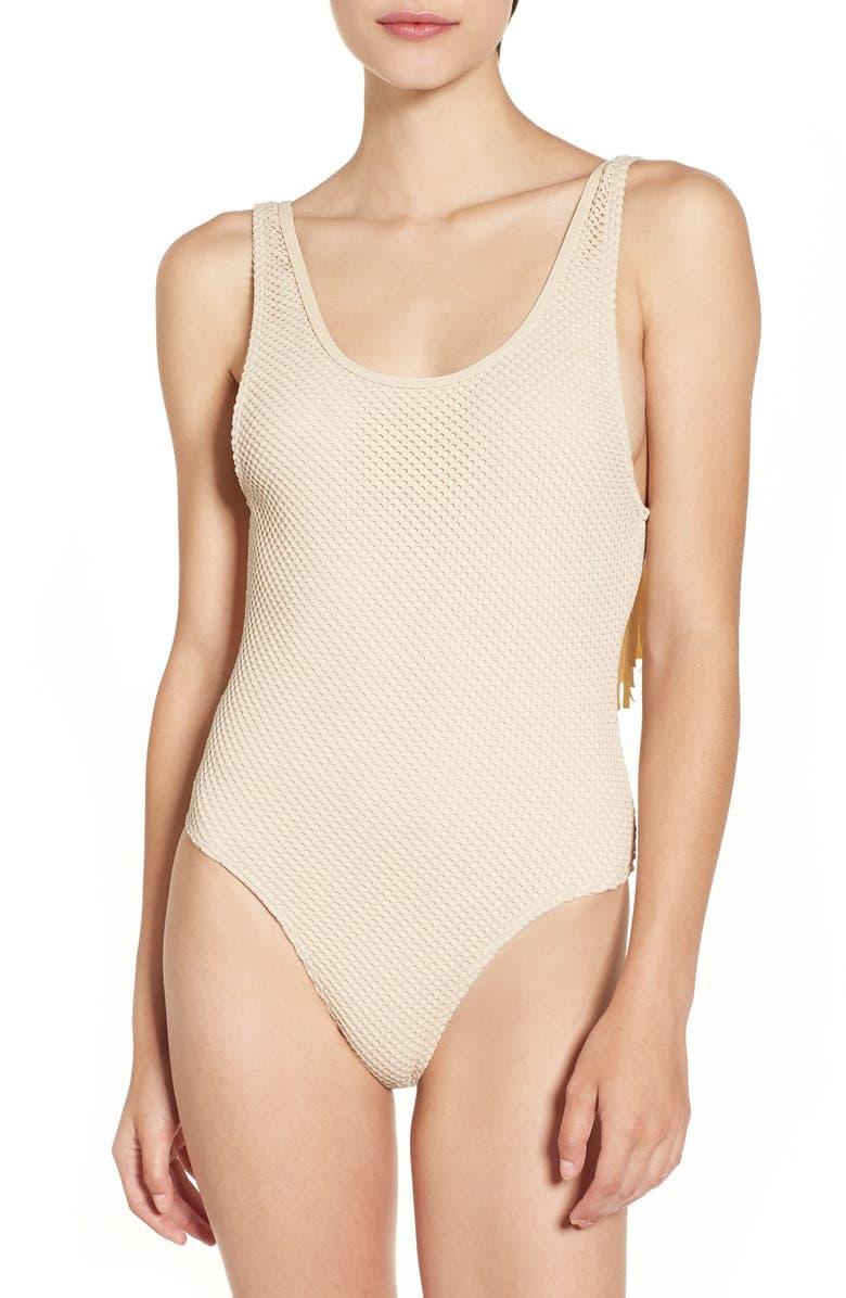 RIP CURL 'Joyride' Fringe One-Piece Swimsuit, Main, color, 254
