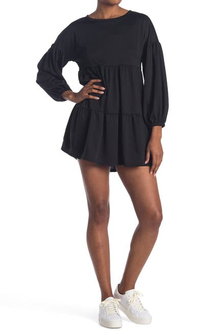 Image of KENEDIK Tiered French Terry Dress