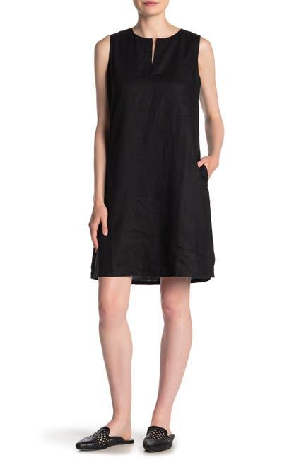 Image of Tommy Bahama Linen Split Neck Shift Dress