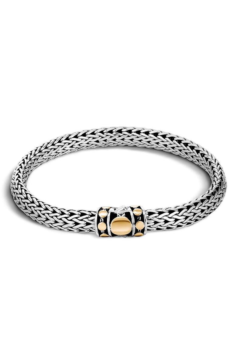 JOHN HARDY Dot 6.5mm Bracelet, Main, color, STERLING SILVER - GOLD