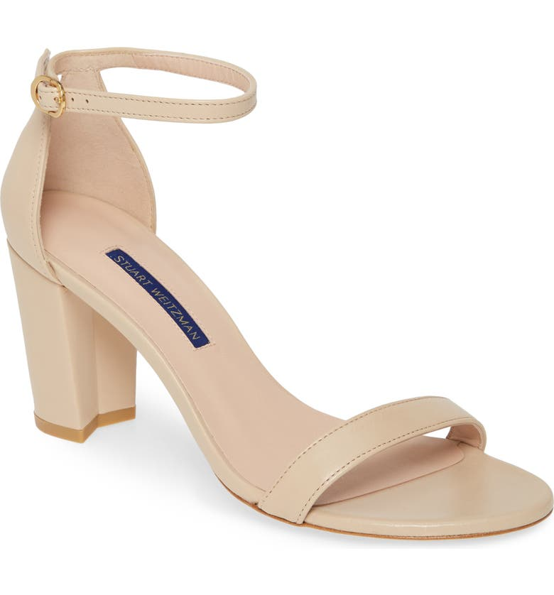 STUART WEITZMAN NearlyNude Ankle Strap Sandal, Main, color, BAMBINA DRESS NAPPA