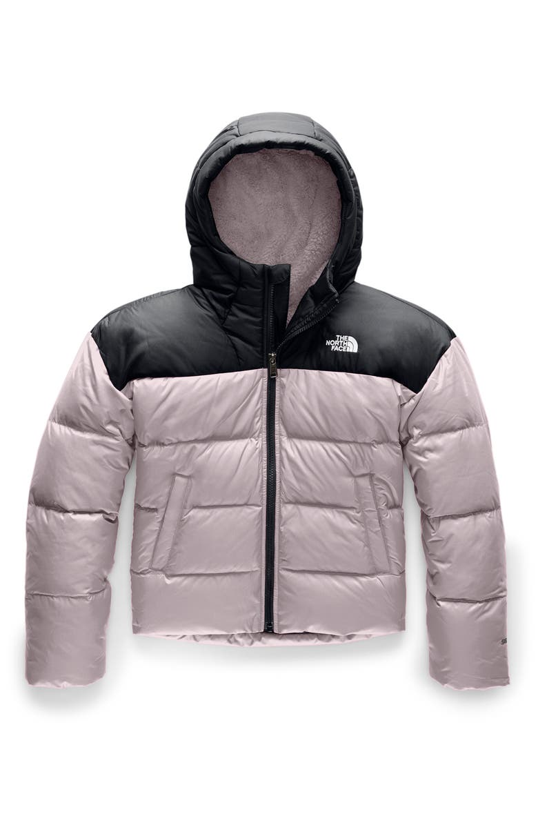 THE NORTH FACE Moondoggy Water Repellent 550 Fill Power Down Jacket, Main, color, ASHEN PURPLE