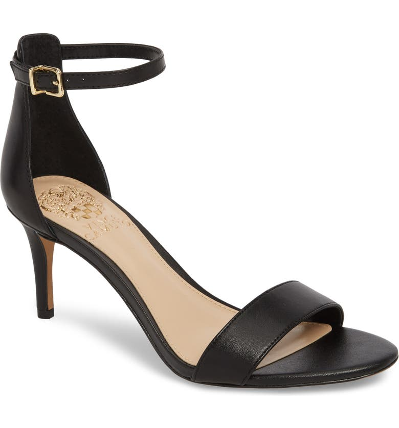 VINCE CAMUTO Sebatini Sandal, Main, color, BLACK LEATHER