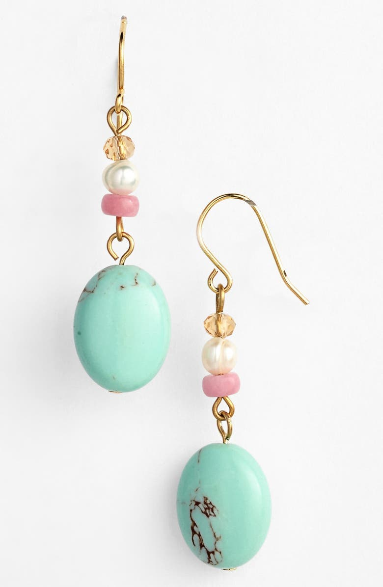 LAUREN RALPH LAUREN Beaded Drop Earrings, Main, color, 440