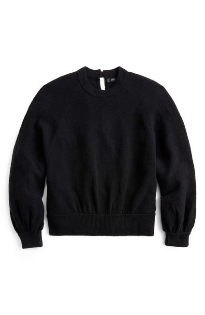 Image of J. Crew Supersoft Gathered Crewneck Sweater
