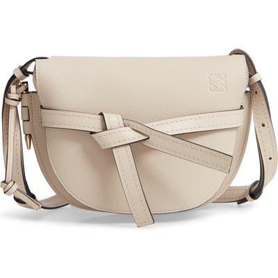 Loewe Gate Small Leather Crossbody Bag - Beige