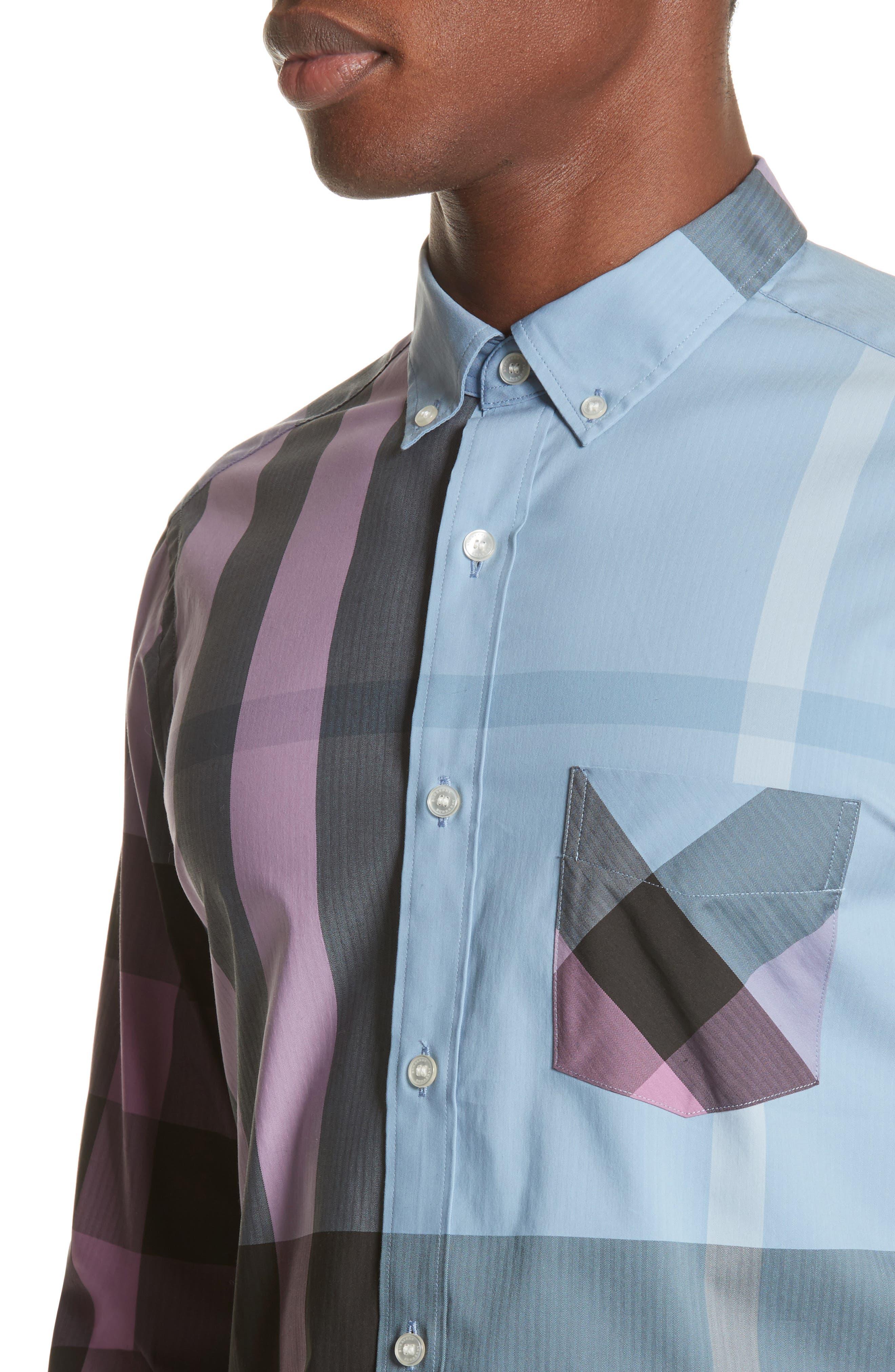 ,                             Thornaby Slim Fit Plaid Sport Shirt,                             Alternate thumbnail 13, color,                             405