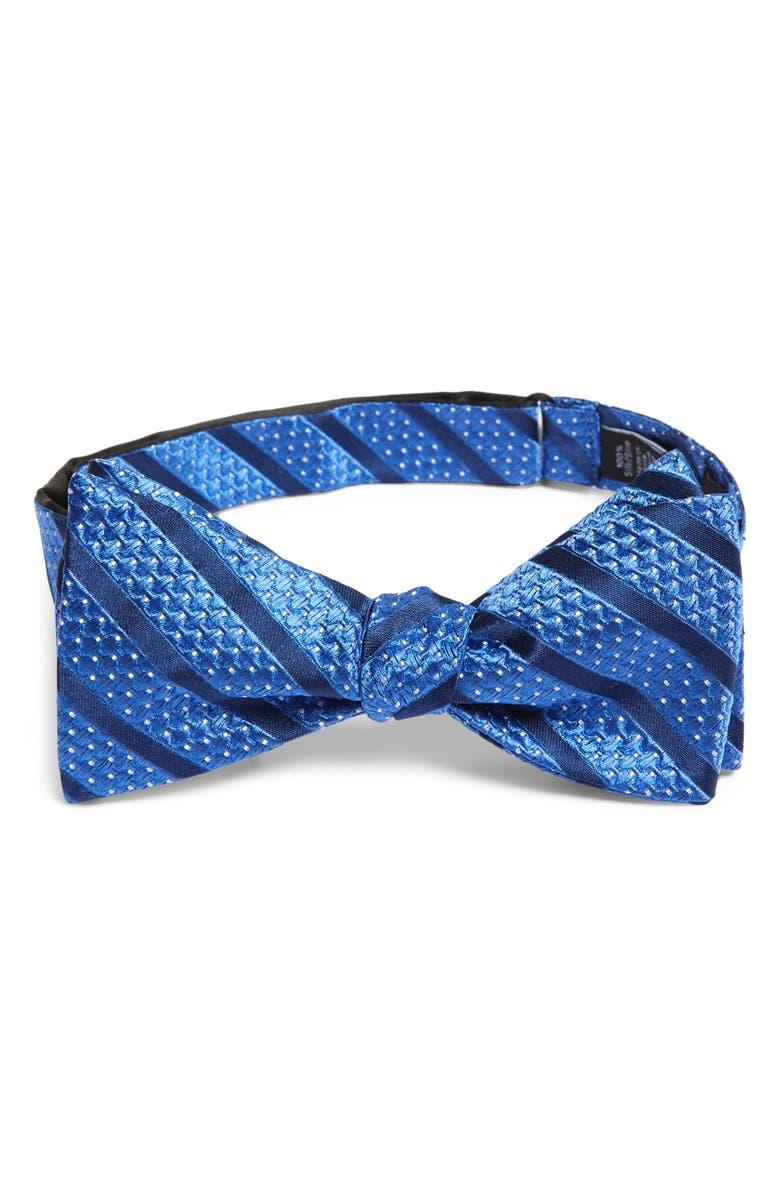 NORDSTROM MEN'S SHOP Bower Stripe Silk Bow Tie, Main, color, 400