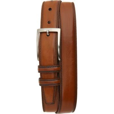 Torino Kipskin Leather Belt, Walnut