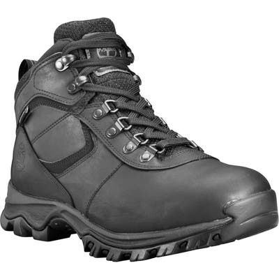 Timberland Mt. Maddsen Waterproof Hiking Boot, Black