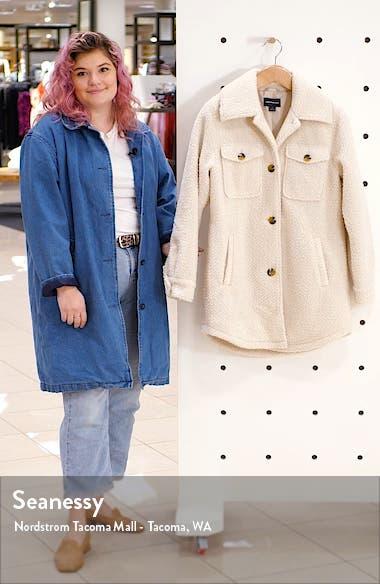 Berber Faux Fur Shirt Jacket, sales video thumbnail
