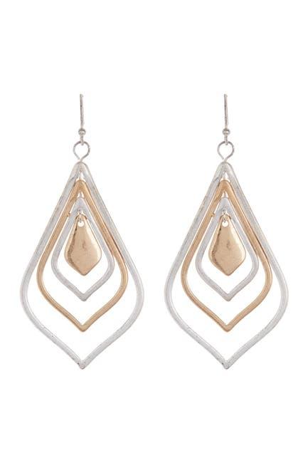 Image of AREA STARS Silver Gold Tear Drop Earrings