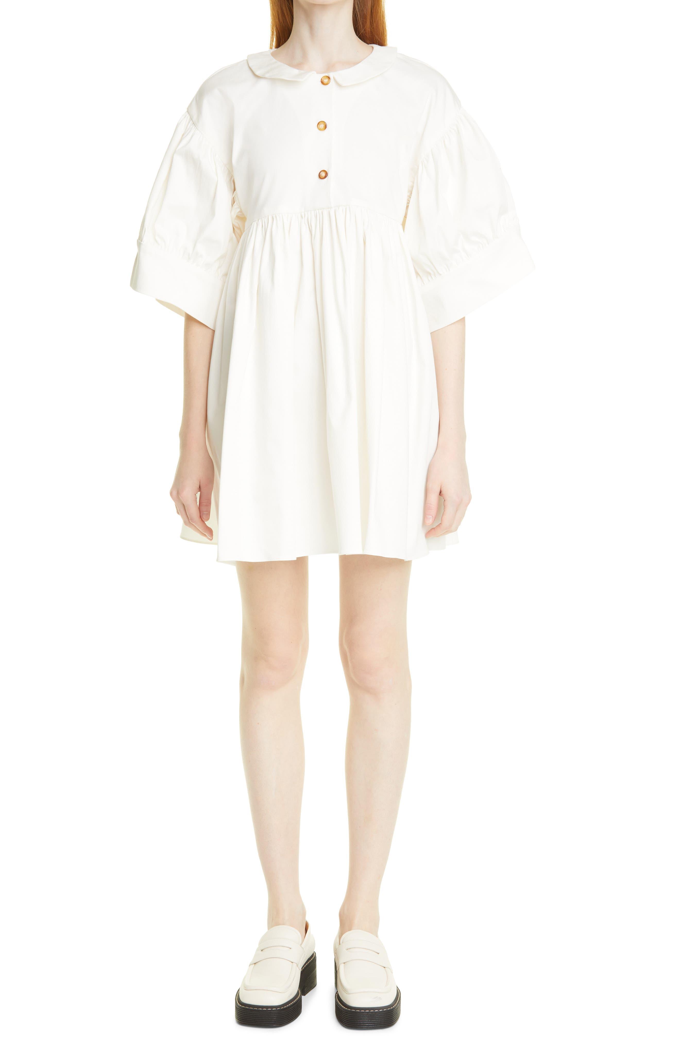 Maty Stretch Cotton Minidress