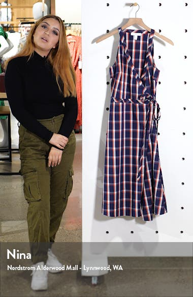 Check Wrap Dress, sales video thumbnail