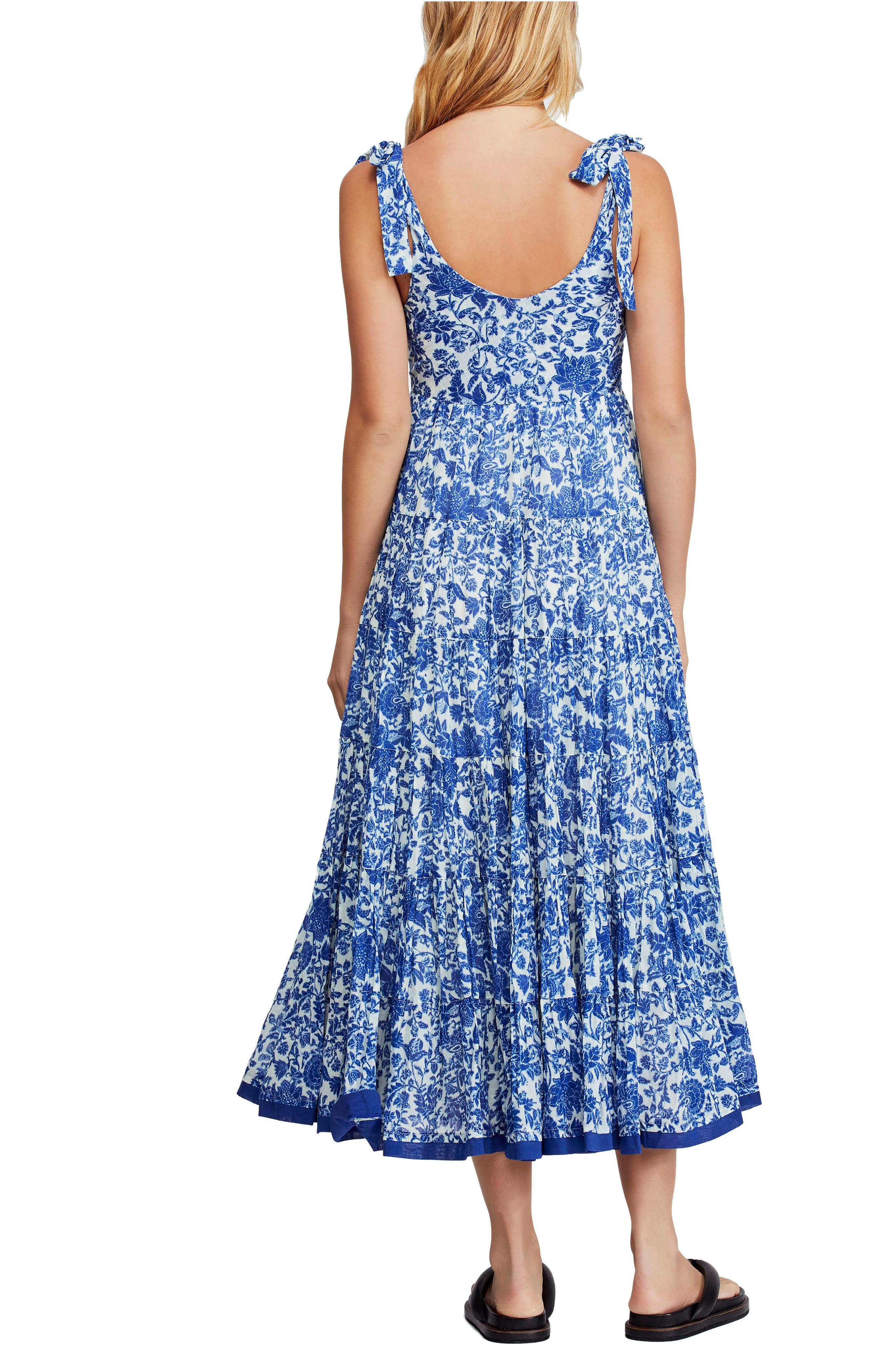 ,                             Kikas Print Dress,                             Alternate thumbnail 2, color,                             IVORY COMBO