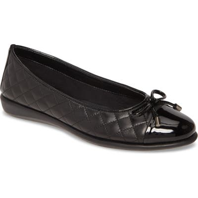 The Flexx Riseco Quilted Ballet Flat, Black