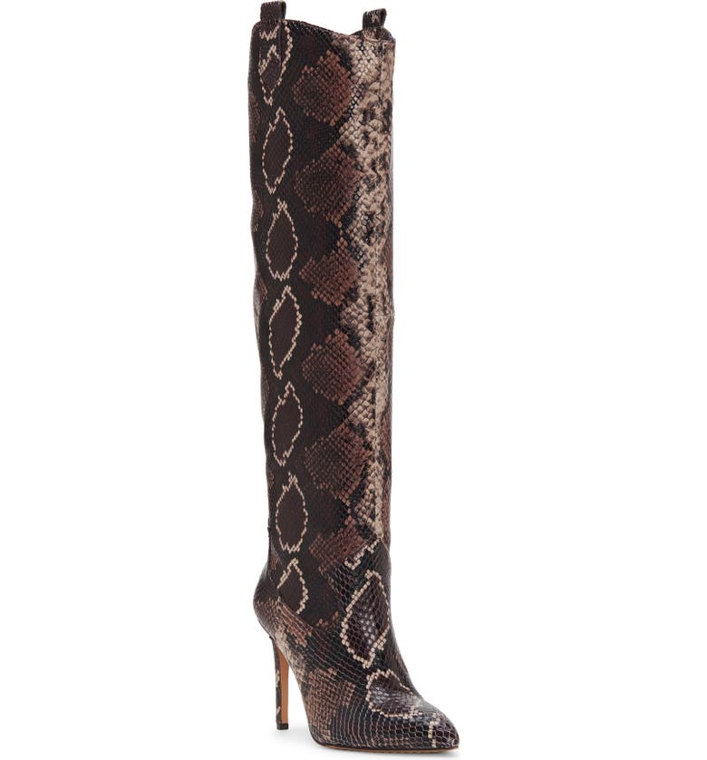 VINCE CAMUTO Kervana Croc Embossed Knee High Boot, Main, color, MAUVE MULTI LEATHER