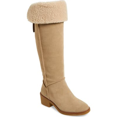 Coach Janelle Over The Knee Boot- Beige