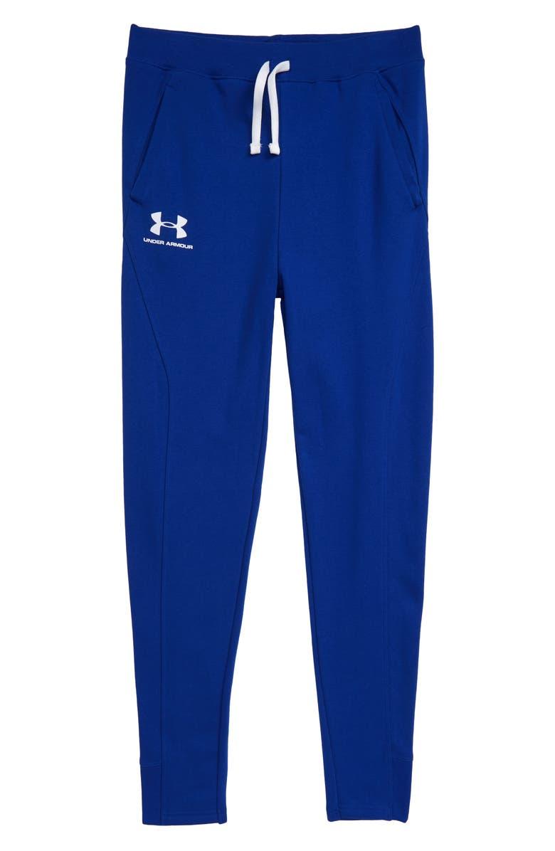 UNDER ARMOUR Rival ColdGear<sup>®</sup> Jogger Pants, Main, color, ROYAL/ WHITE