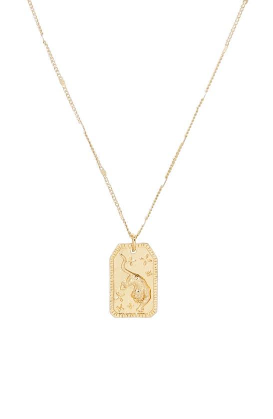 Gorjana Power Pendant Necklace In Gold