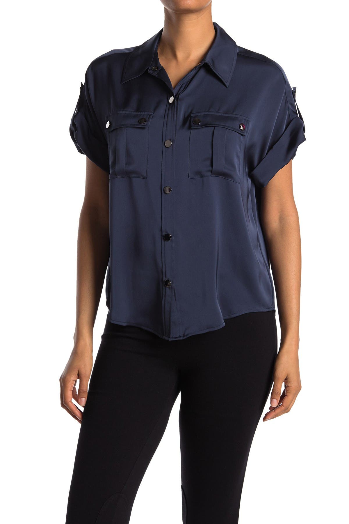 Image of Ramy Brook Sawyer Satin Blouse