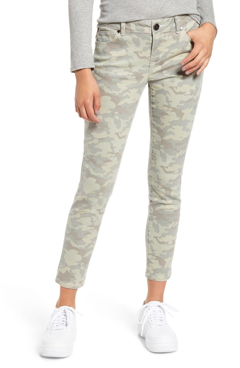 1822 DENIM Camo Print Ankle Skinny Jeans, Main, color, ARMEE WASH