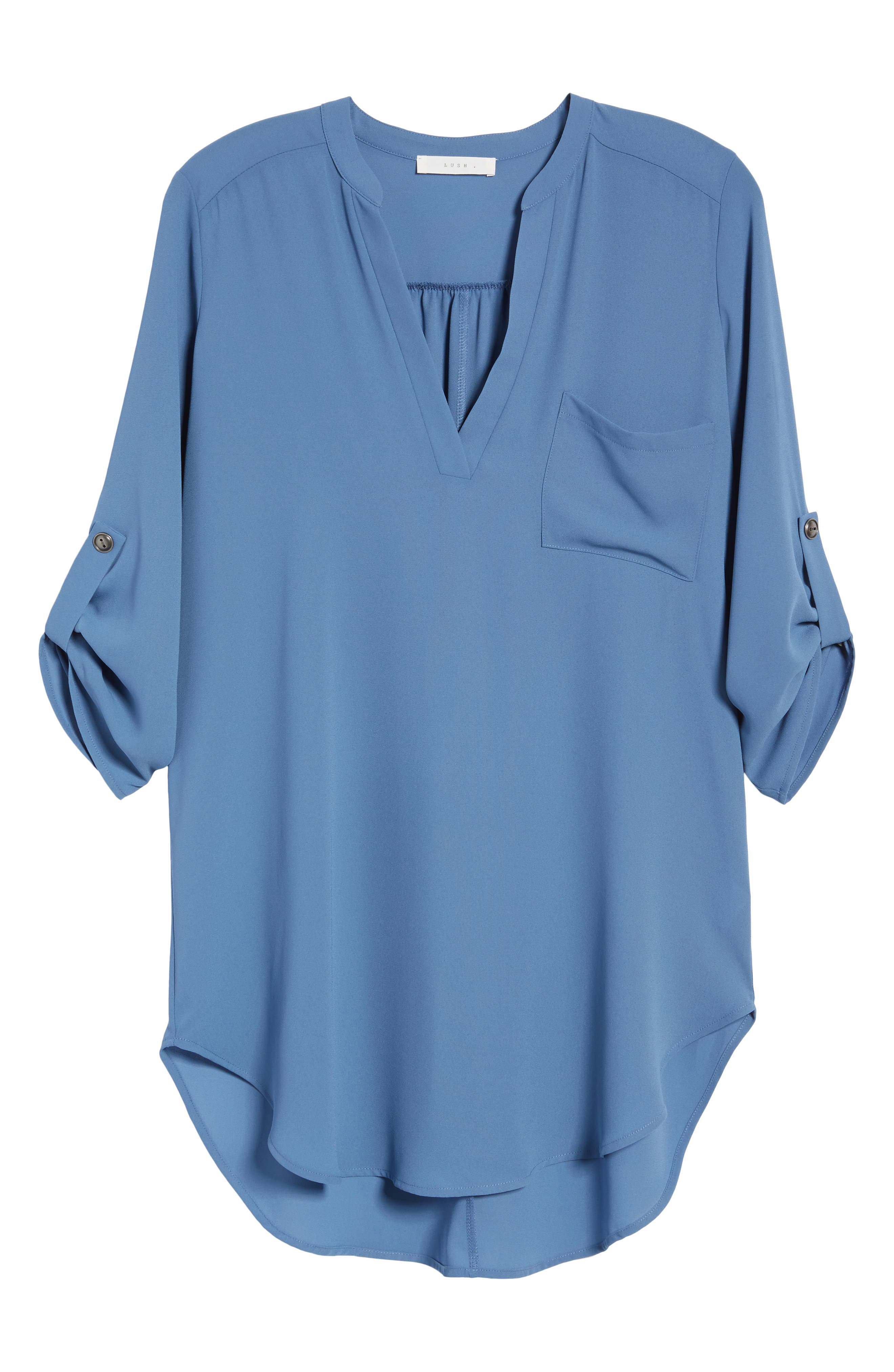 ,                             Perfect Roll Tab Sleeve Tunic,                             Alternate thumbnail 284, color,                             424