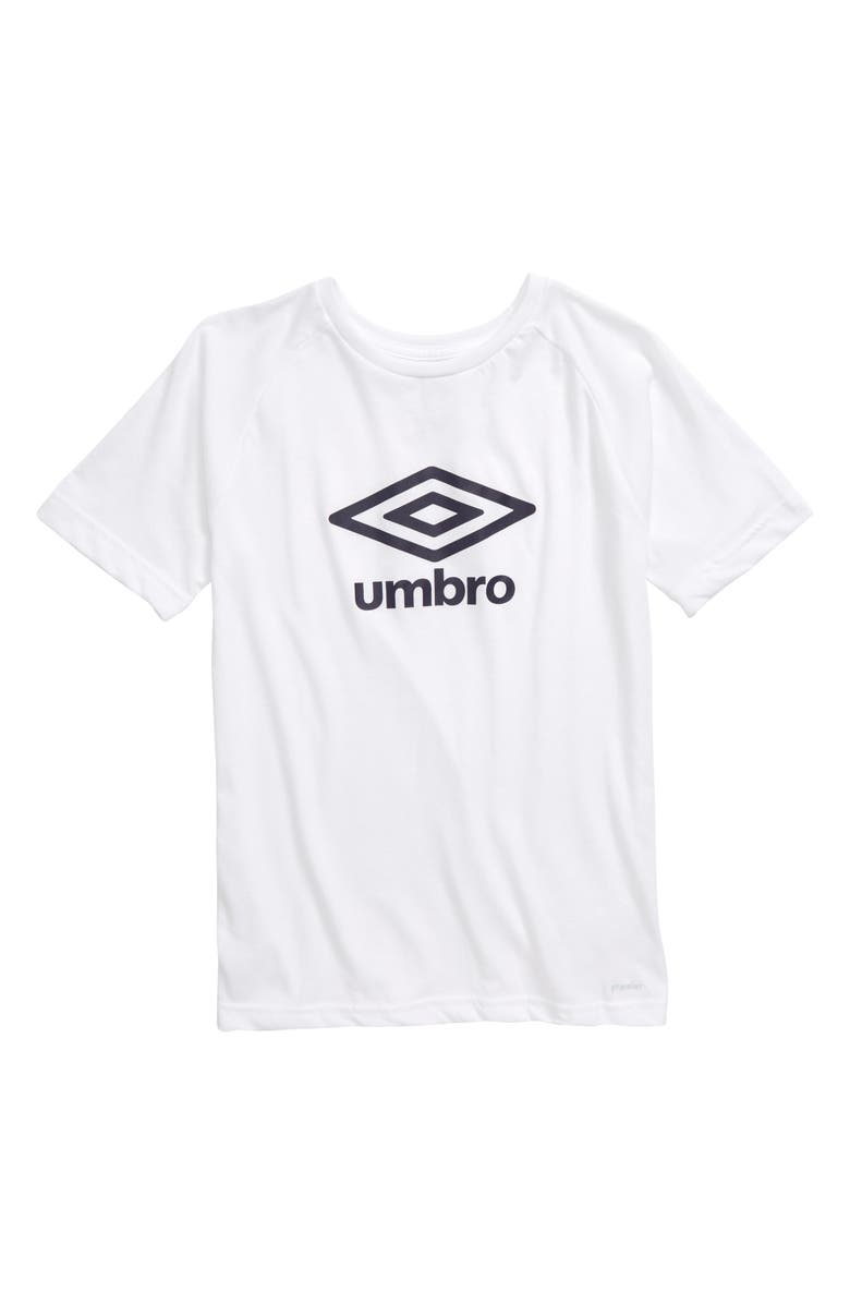 UMBRO Double Diamond Ultra Graphic T-Shirt, Main, color, WHITE/ NAVY