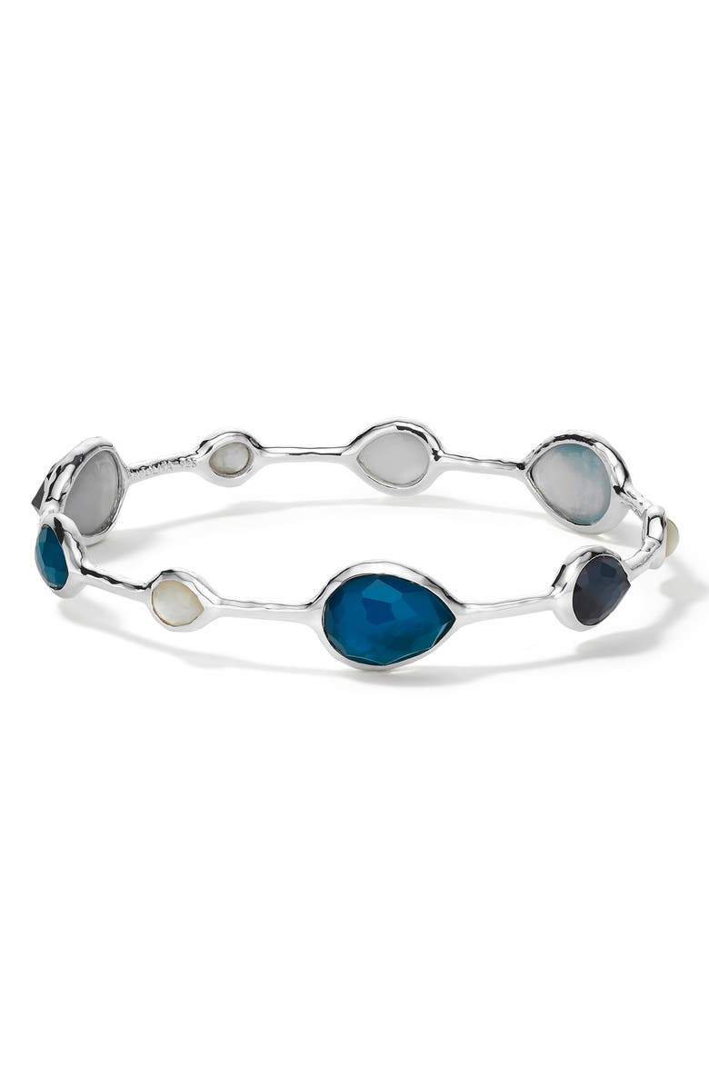 IPPOLITA Wonderland Open Teardrop Bangle, Main, color, BLUE MOON