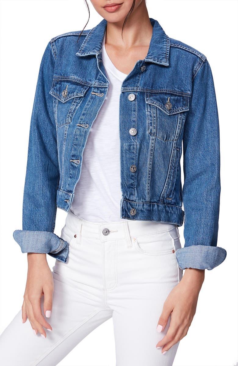 PAIGE Vivienne Crop Denim Jacket, Main, color, 400