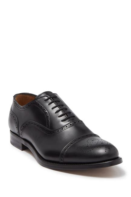 Image of Antonio Maurizi Leather Medallion Cap Toe Oxford