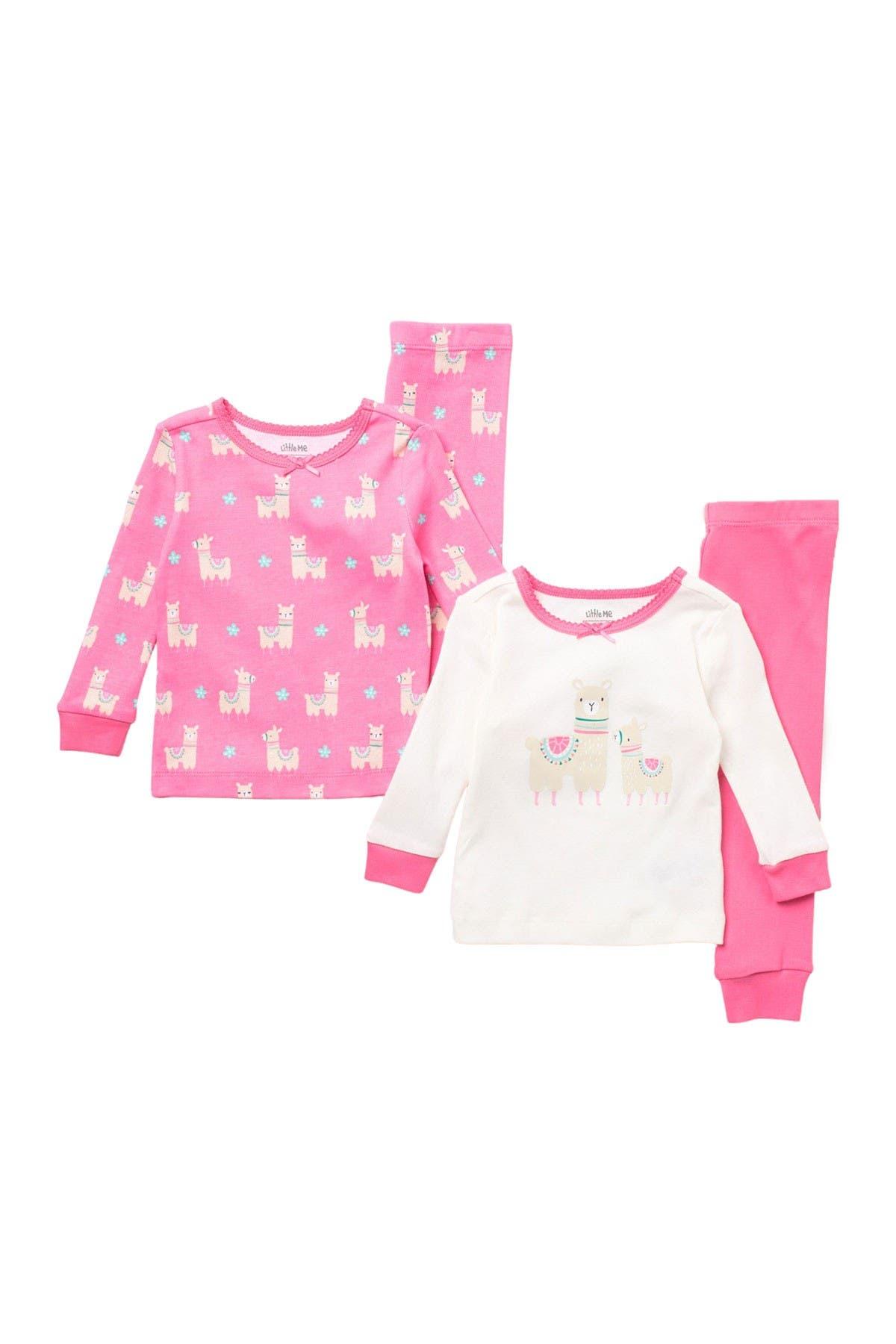 Image of Little Me Llama Print Pajama Set - Set of 2