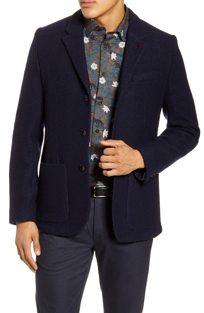 TED BAKER LONDON Kapoor Slim Fit Wool Blazer, Main, color, 410