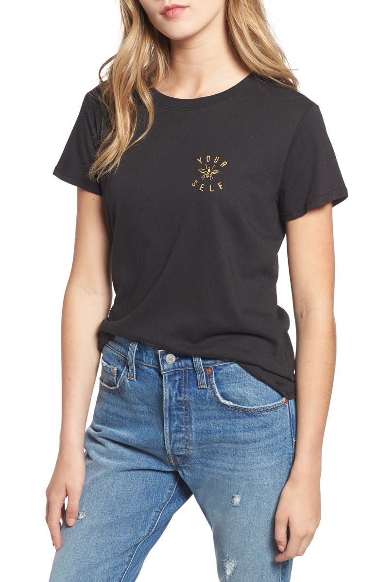 SUB_URBAN RIOT Bee Yourself Slouched Tee, Main, color, 001