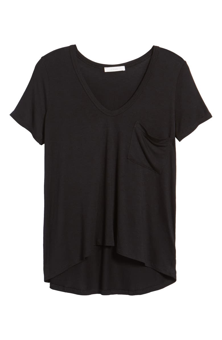 --- Deep-V Neck Tee, Main, color, 001