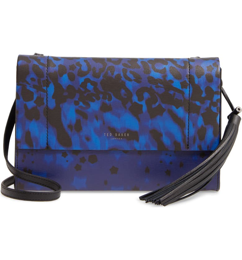TED BAKER LONDON Lleon Topaz Crossbody Bag, Main, color, BLUE