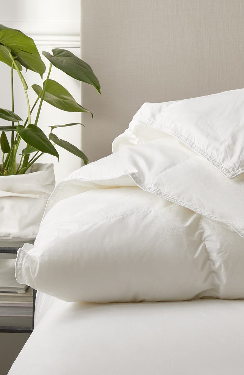 THE WHITE COMPANY Perfect Everyday Medium Warmth Duck Feather & Down Comforter, Main, color, WHITE