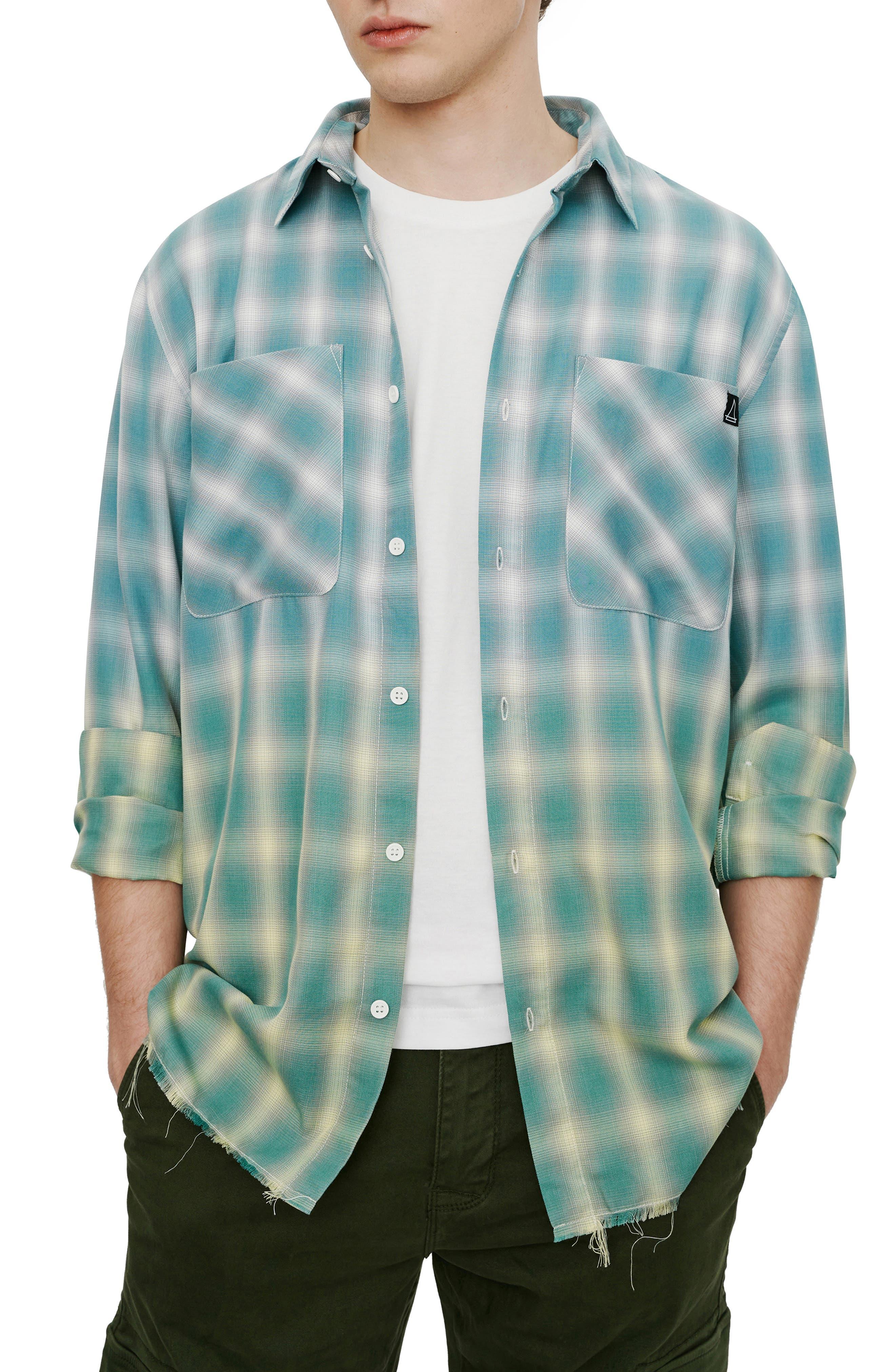 Slim Fit Plaid Button-Up Shirt